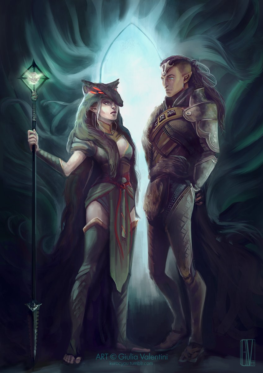 #solavellan #Solas #DragonAgeInquisition #commission #art #illustration @PatrickWeekes what do you think about the Inquisitor joining Solas?<br>http://pic.twitter.com/SAJpfOo2iC