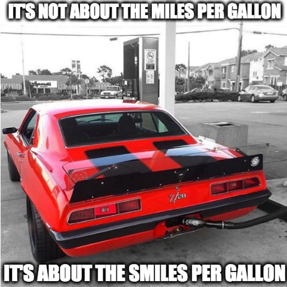 It&#39;s Not About The Miles Per Gallon, It&#39;s The #Smiles Per Gallon.   http:// dld.bz/e44jk  &nbsp;    #cars #musclecar #mpg <br>http://pic.twitter.com/M1Nm24BvwD