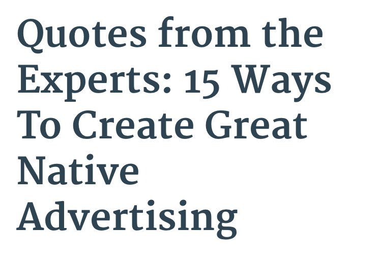 #HowTo create great #NativeAdvertising #Quotes from #Experts &gt;&gt;&gt;&gt; https://www. google.de/amp/s/nativead vertisinginstitute.com/blog/great-native-advertising/amp/ &nbsp; …  @NativeInstitute #BestPractice #NativeAds #Content<br>http://pic.twitter.com/Kf993uqoET
