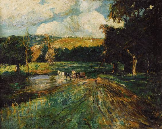 Ernest Lawson -     ↳ https:// goo.gl/suShB4  &nbsp;    #art #poetry #socialmedia  ↳ Artwork: What is the name of this painting? <br>http://pic.twitter.com/AYLfIuhvQv