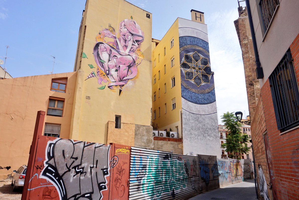 Spent this morning checking out the street art scene in #Zaragoza from the annual urban art festival! #SpainCities<br>http://pic.twitter.com/0BI9pzuRfj