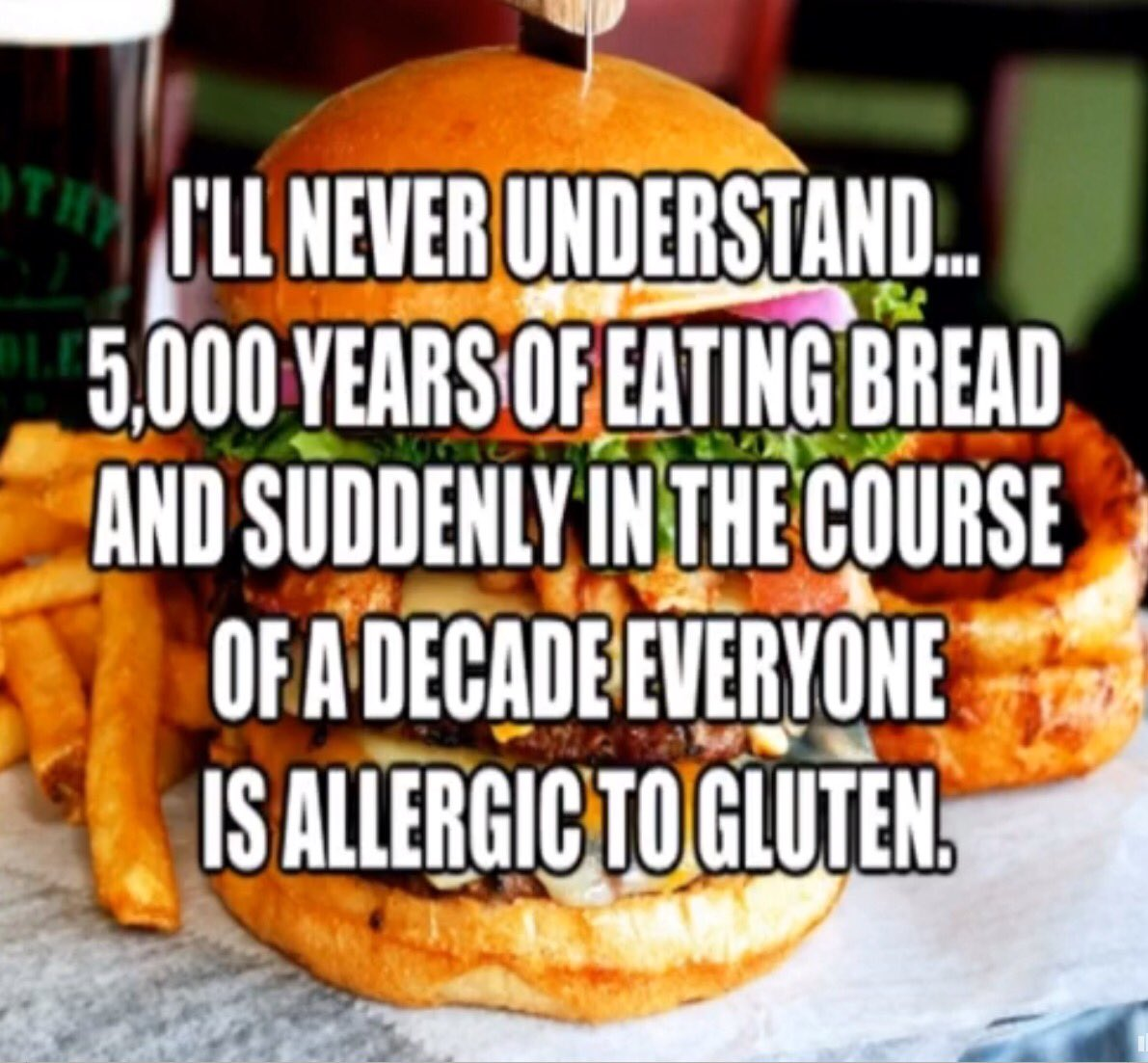 Because it is totally hip to be gluten-intolerant!  From For Sh!#s and Giggles <br>http://pic.twitter.com/bqjLvagTmp