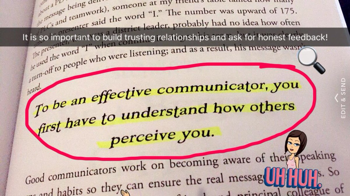 Be an effective communicator- big goal for me &amp; my first time using #Snapchat for my #booksnaps! #leadlap #principalsinaction<br>http://pic.twitter.com/ynRAWMoaRF