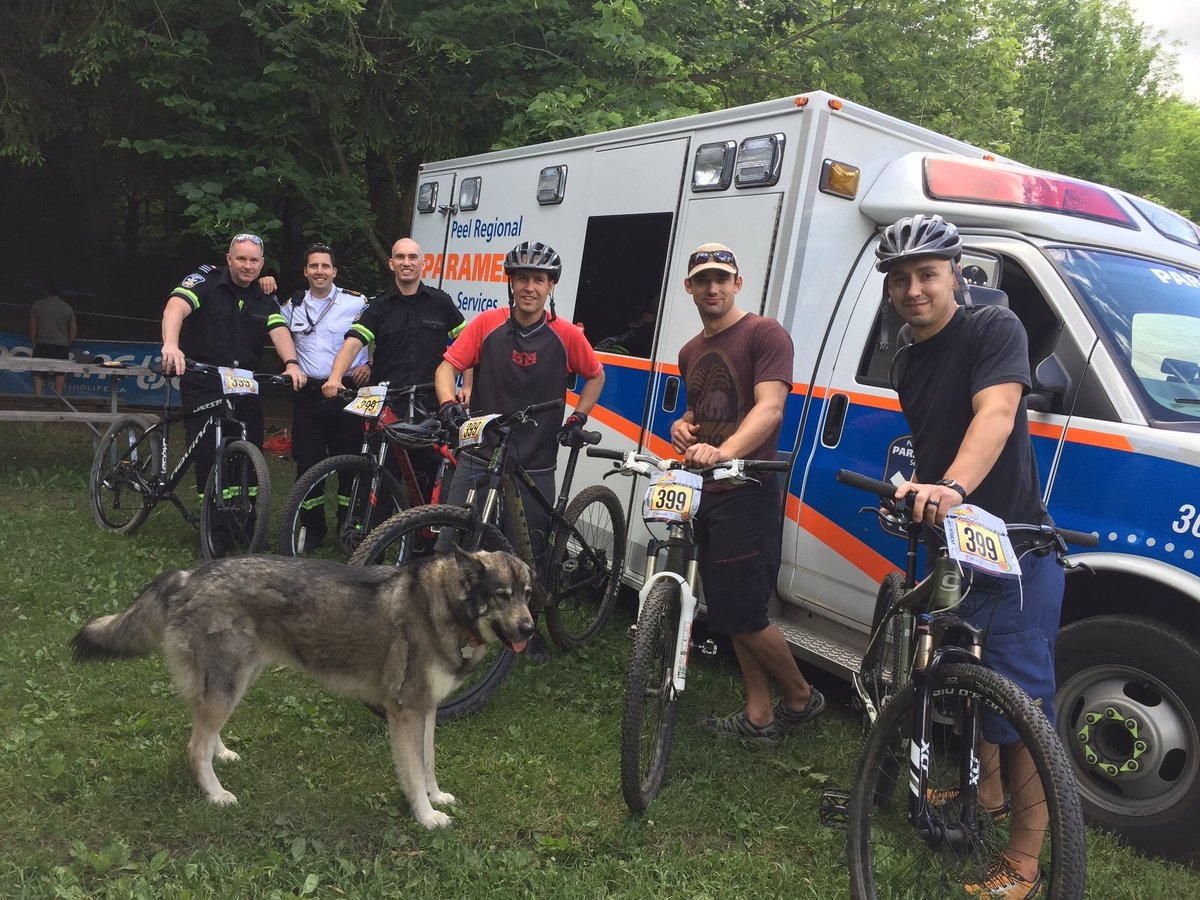 Our @Peel_Paramedics team participates in the 24 hour Summer Solstice...
