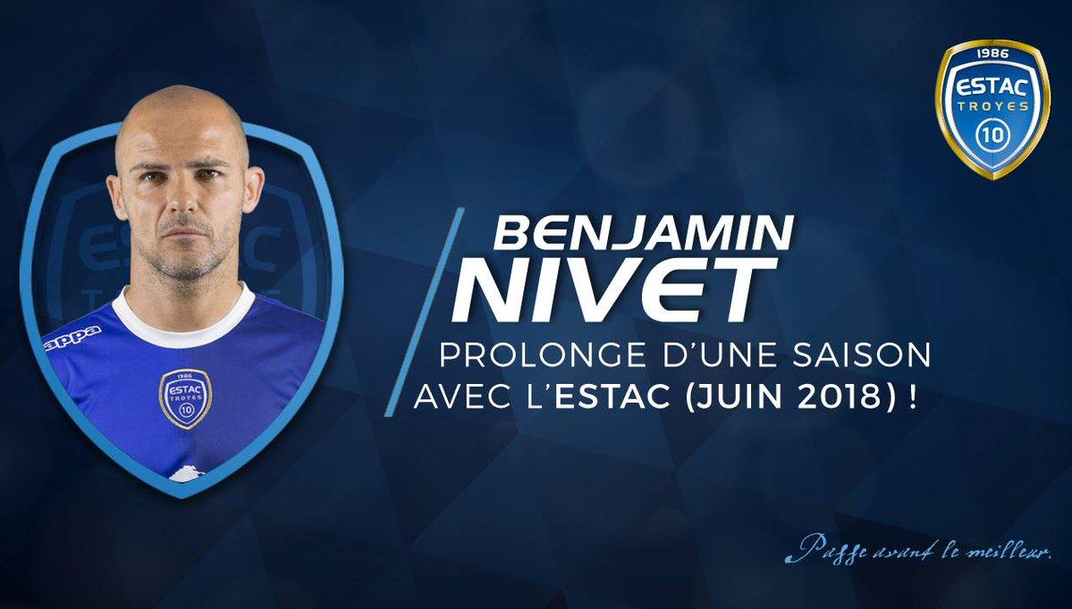 📝 Troyes, 40 yaşındaki orta saha Benjamin Nivet'in sözleşmesinin bir y...
