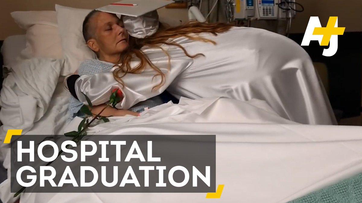 A New York school held its graduation ceremony in hospital, so a termi...