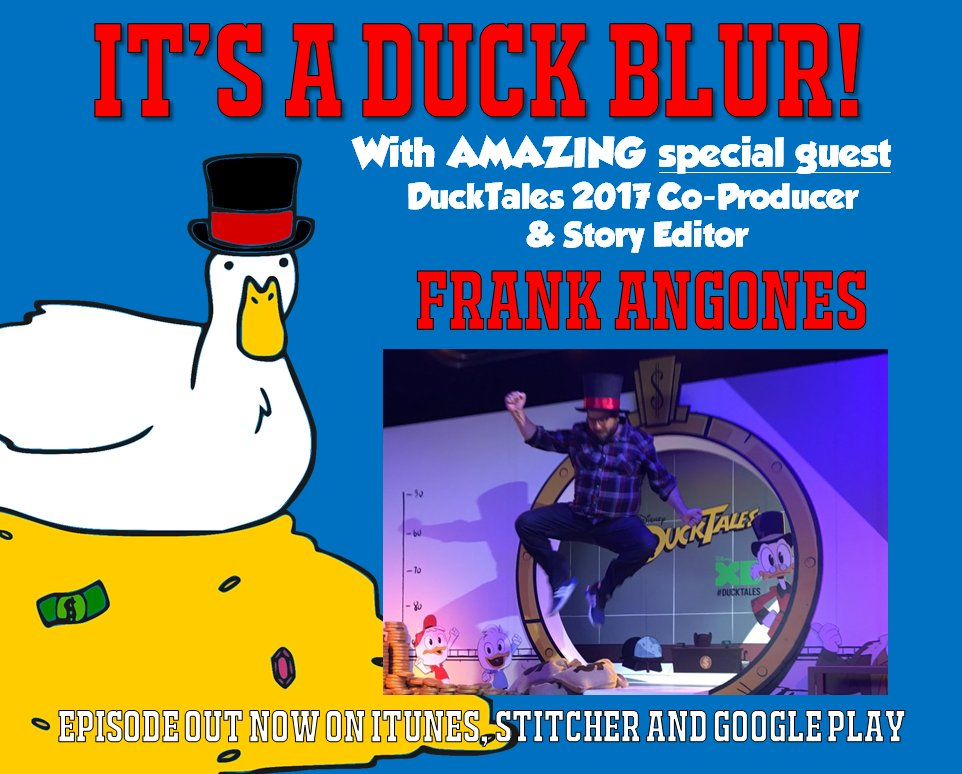 Quackeroonie! Co-Producer/Story Editor of the new #DuckTales, @FrankAngones joins us on the latest ep to talk new &amp; old DT! Download now!<br>http://pic.twitter.com/SBmHv8Zev2