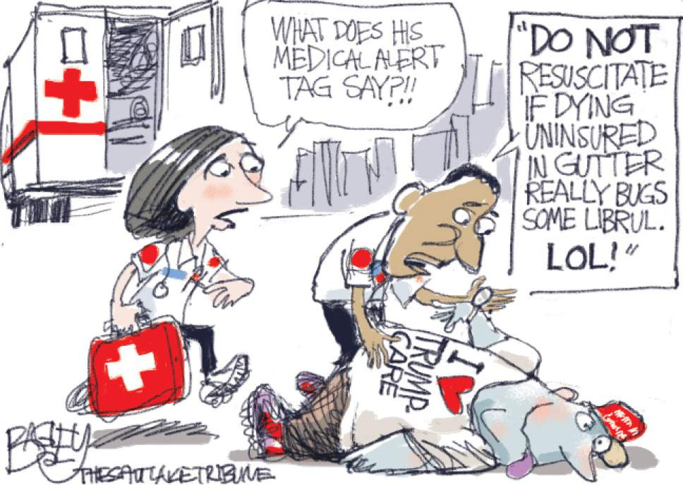 Bagley cartoon: Dying to Repeal Obamacare   https://www. mhb.io/e/3vs0g/3  &nbsp;   #ACA #Opinion @patbagley reports<br>http://pic.twitter.com/e6OW8hPPaV