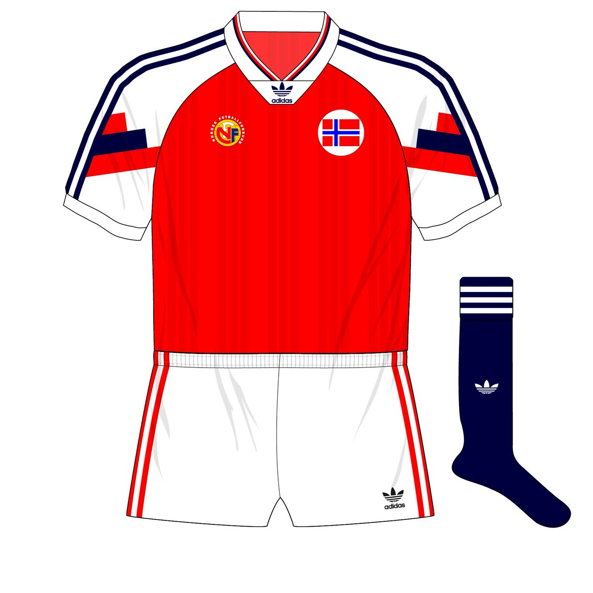 57d6820940a Another kit from the adidas Equipment design era but with a trefoil logo -  Norway 1992-94