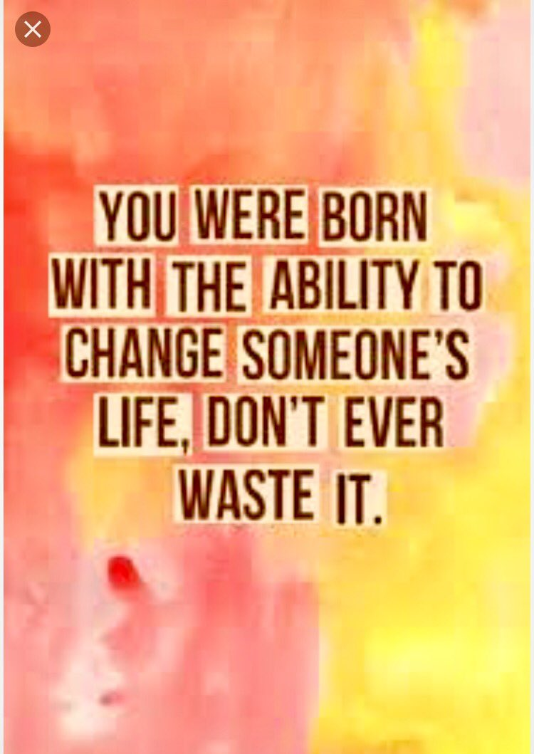 You have the #Ability to change someone&#39;s life, put it to use and don&#39;t waste it. #ThinkBIGSundayWithMarsha<br>http://pic.twitter.com/8jhby5RbAj