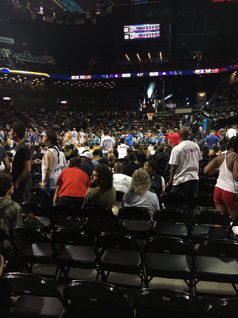 Packed house at @icecube's #Big3 game in @barclayscenter https://t.co/...