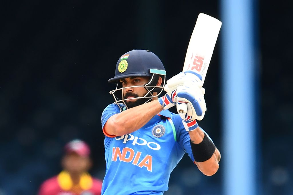 test Twitter Media - Rahane's century, 63 from Dhawan and Kohli's quickfire 87 power India to 310/5 from their 43 overs in Trinidad #WIvIND https://t.co/efmf9iGgwl