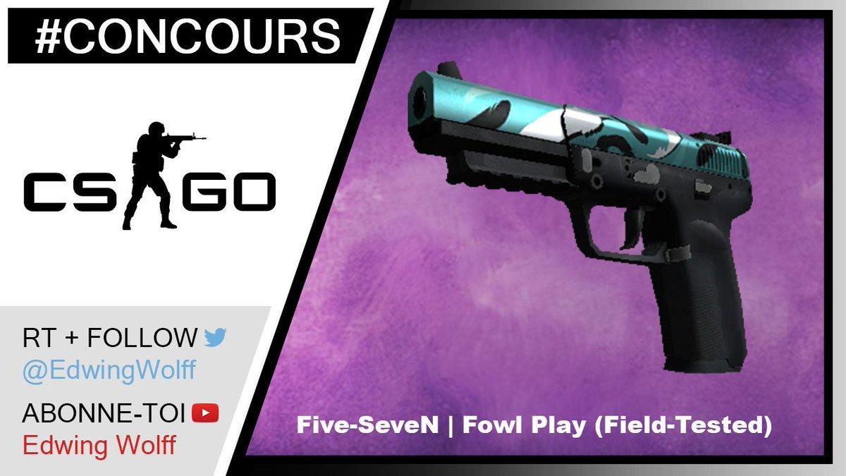 #CONCOURS  Gagne ton skin #CSGO Five-SeveN | Fowl Play  • RT • FOLLOW @EdwingWolff • ABONNE-TOI  http:// bit.ly/2sPZs3K  &nbsp;  <br>http://pic.twitter.com/pgtn4ShZuU