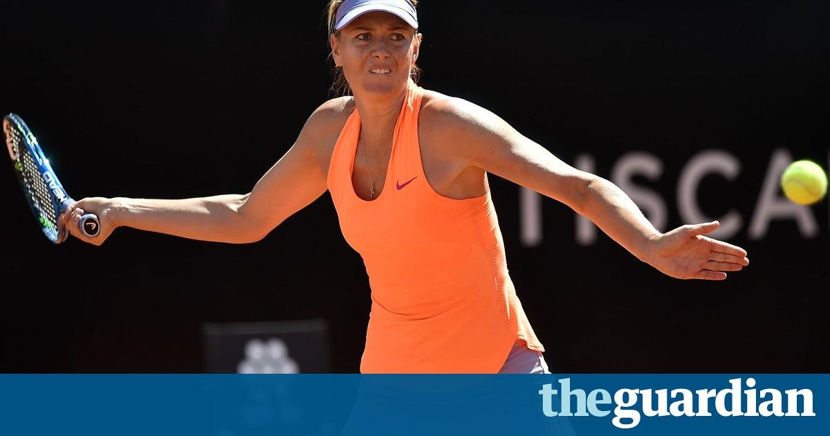 Sharapova french open 2017