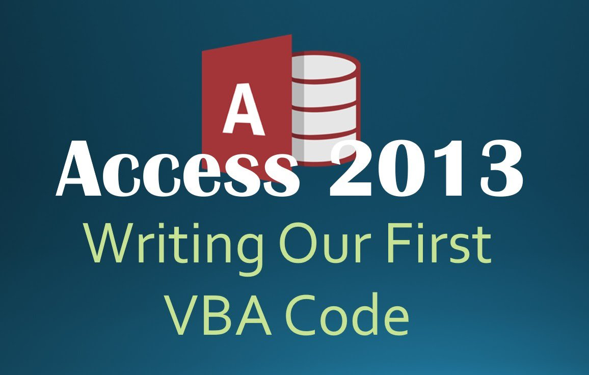 28. VBA - Writing Our First Code (Programming In Access 2013)  https://www. dub.io/s/221835  &nbsp;   #microsoft #access <br>http://pic.twitter.com/3FhpREqDVO