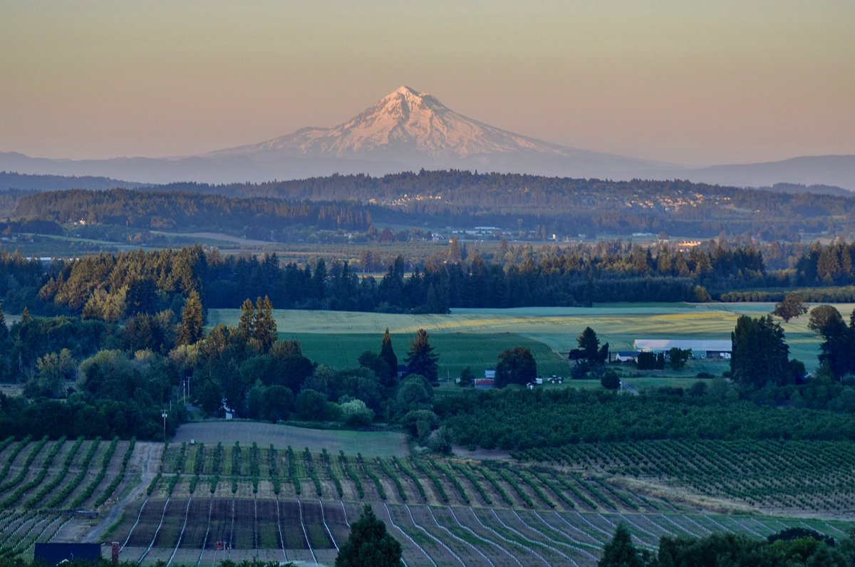 Mt. Hood looked gorgeous Saturday as the sun went down after a very warm day #LiveOnK2 #pdxtst #omht<br>http://pic.twitter.com/MEa0eCBJd6