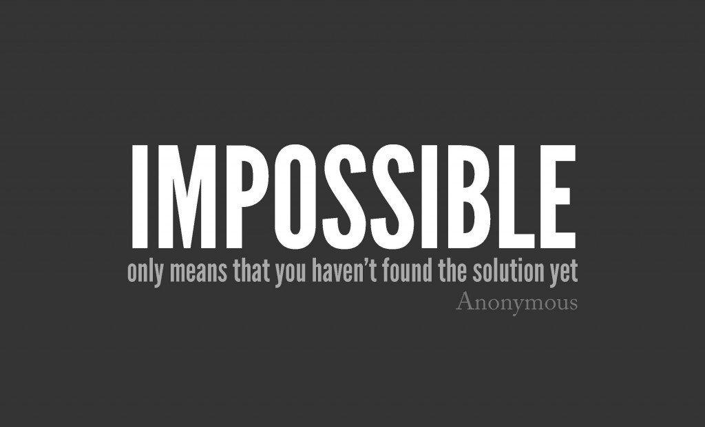 RT @LeadToday: It's only impossible until it's done. #motivation https://t.co/ZaW9D2Ns0H