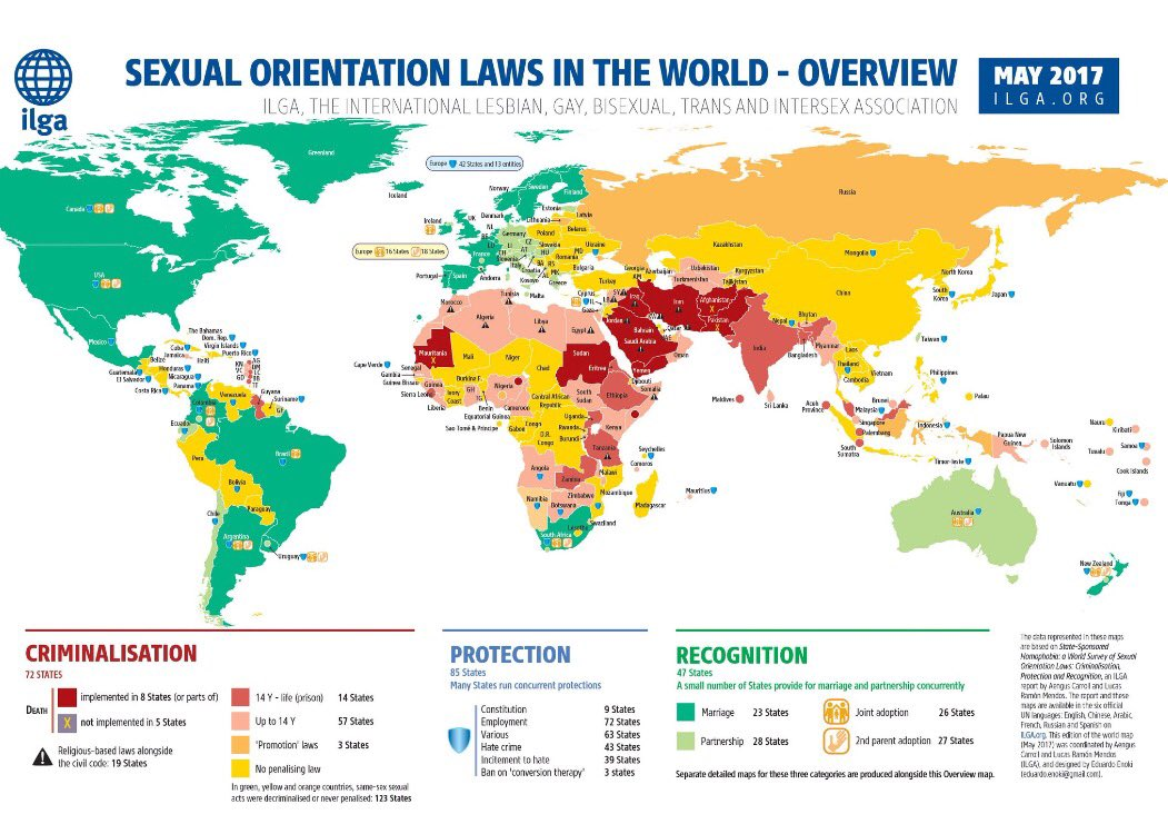 How many countries criminalize homosexuality