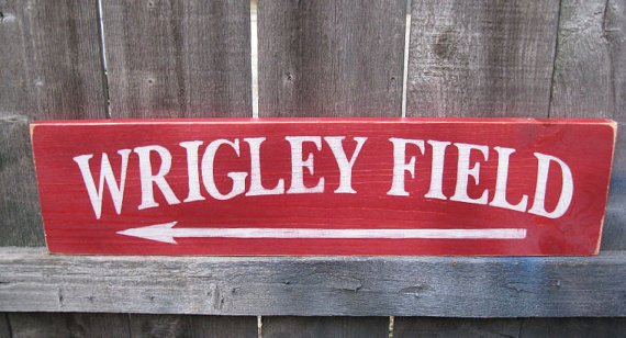 Hand-Painted Wood Wrigley Field #Sign by GlancesBackVintage @McClainDebby. #baseball #Cubs #Chicago  http:// etsy.me/2jP3owN  &nbsp;   via @Etsy<br>http://pic.twitter.com/0VU54ZQUup