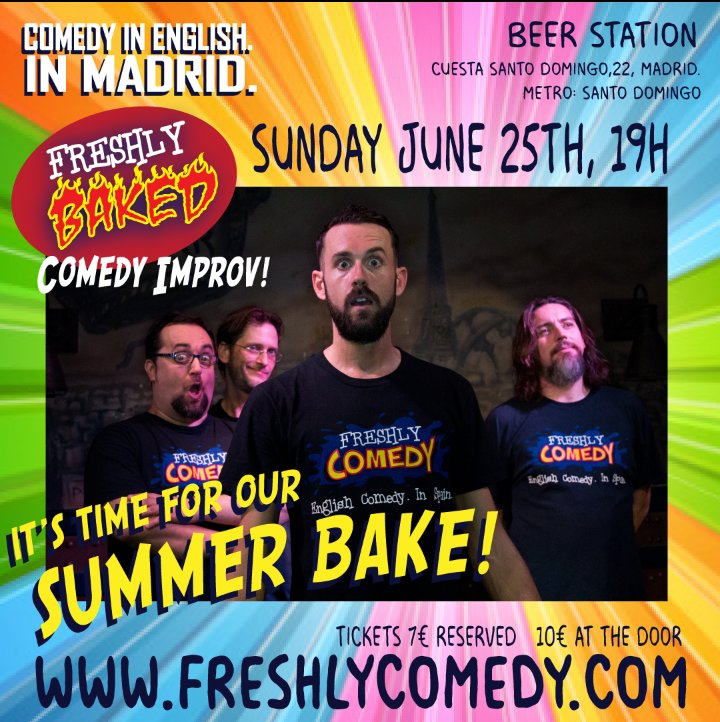 Last chance for discounted tickets for today&#39;s *Freshly Baked* Summer Special! #Impro #Inglés #Comedia #Hoy #Domingo  http:// freshlycomedy.com  &nbsp;  <br>http://pic.twitter.com/RZ65c7kwL0