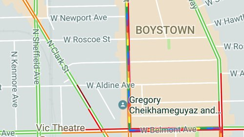 Kudos to @Google for showing the #Pride2017  parade route on #GoogleMaps even though I wasn&#39;t searching for it! <br>http://pic.twitter.com/wqRyh7d0cZ
