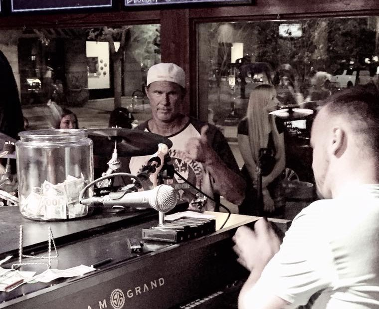 Chad Smith of @ChiliPeppers surprises bands, fans by sitting in at 3 GR venues:  http:// wp.me/p2aLby-jIa  &nbsp;   @RHCPchad #localspins #bestoftheday <br>http://pic.twitter.com/72T3yl4FPu