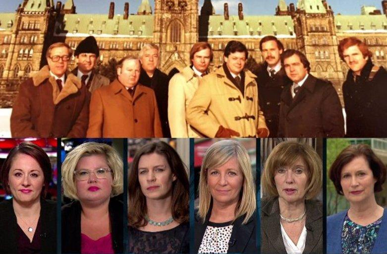 .@CBCnews Parliamentary correspondents: 1978 (top) vs. 2017 (bottom) via @lheureuxdaniel @ChantalHbert #journalism <br>http://pic.twitter.com/S64dghTlTn