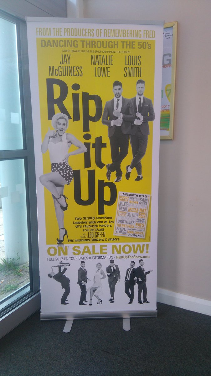 Look what I found in #Southport today  A @RipItUpTheShow poster banner  @JayMcGuiness @JayNMcguiness @RealNatalieLowe @louissmith1989<br>http://pic.twitter.com/RbiWRwkTg5 &ndash; bij Southport Theatre