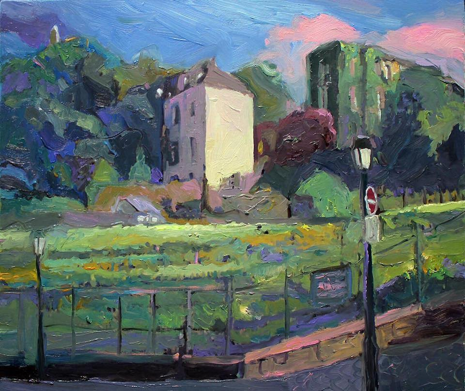 "Enjoyed my favourite vineyard in #Paris. Commission piece. ""afternoon light at clos montmartre"" #painter #modernart #NSW #australianartist<br>http://pic.twitter.com/G0JigGTWx7"