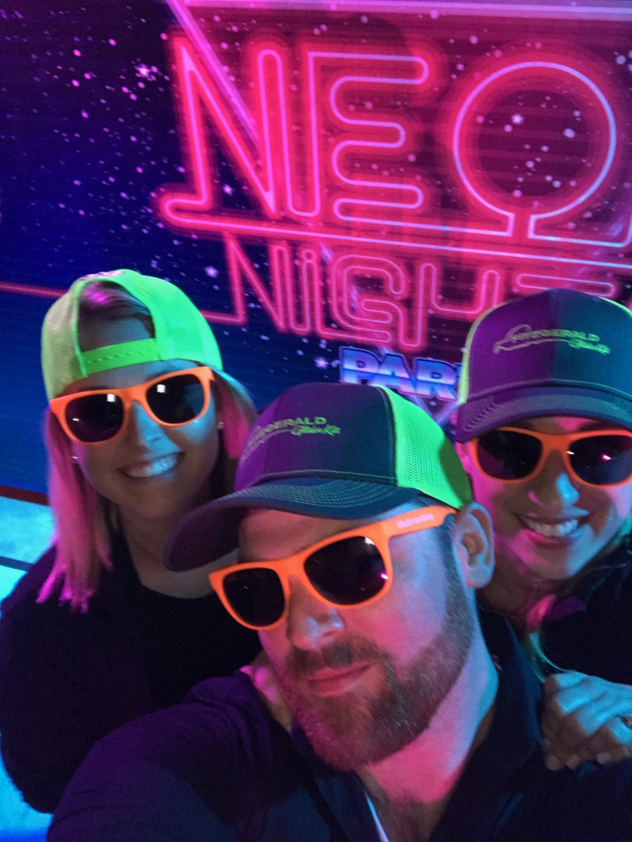 Is this the most colorful team picture ever? #ees #evolutioneventsolutions #teampic #80s #neonnights #brightlights #colormebad<br>http://pic.twitter.com/HCegonNi45