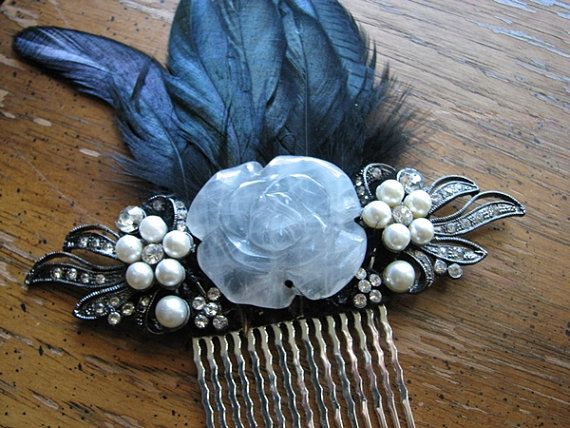 Crystal rose hair comb  http:// buff.ly/2t5EsYS  &nbsp;   via @Etsy #haircomb #rose #crystal #boebot<br>http://pic.twitter.com/AmkUUj5cke