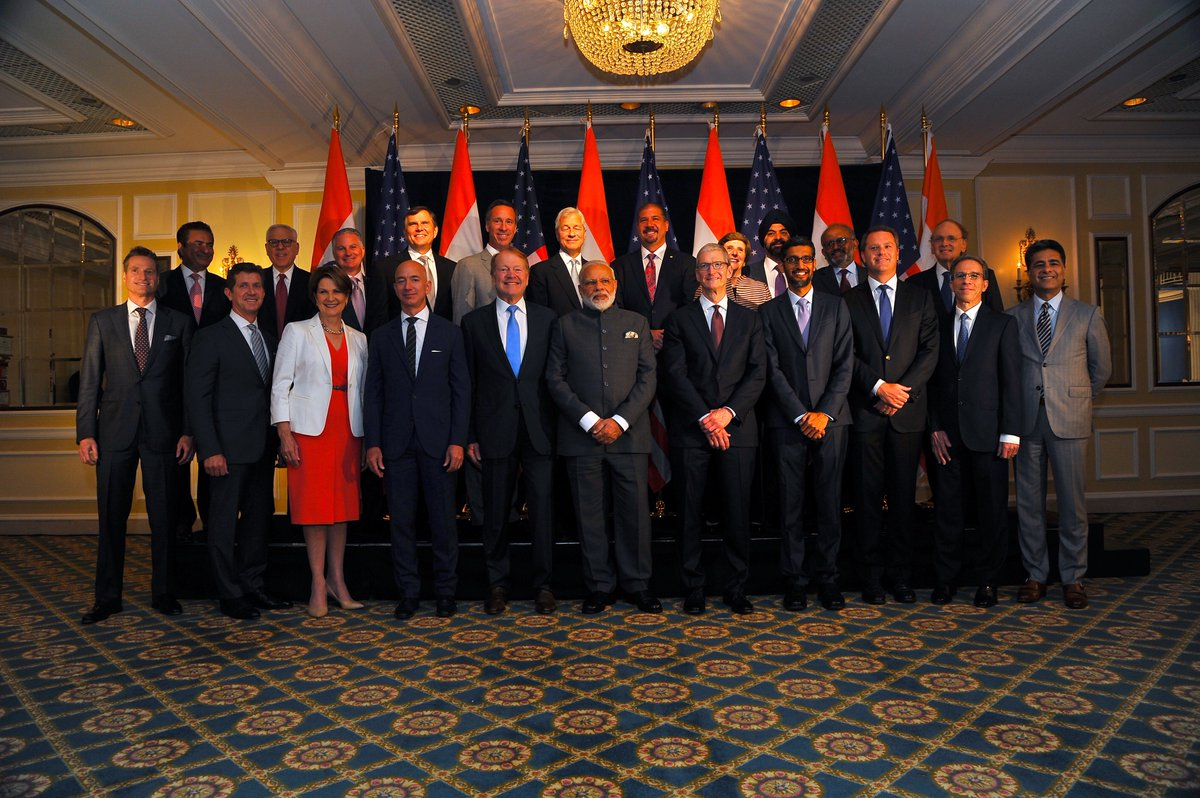 PM @narendramodi interacted with top Indian and American CEOs in Washington DC.