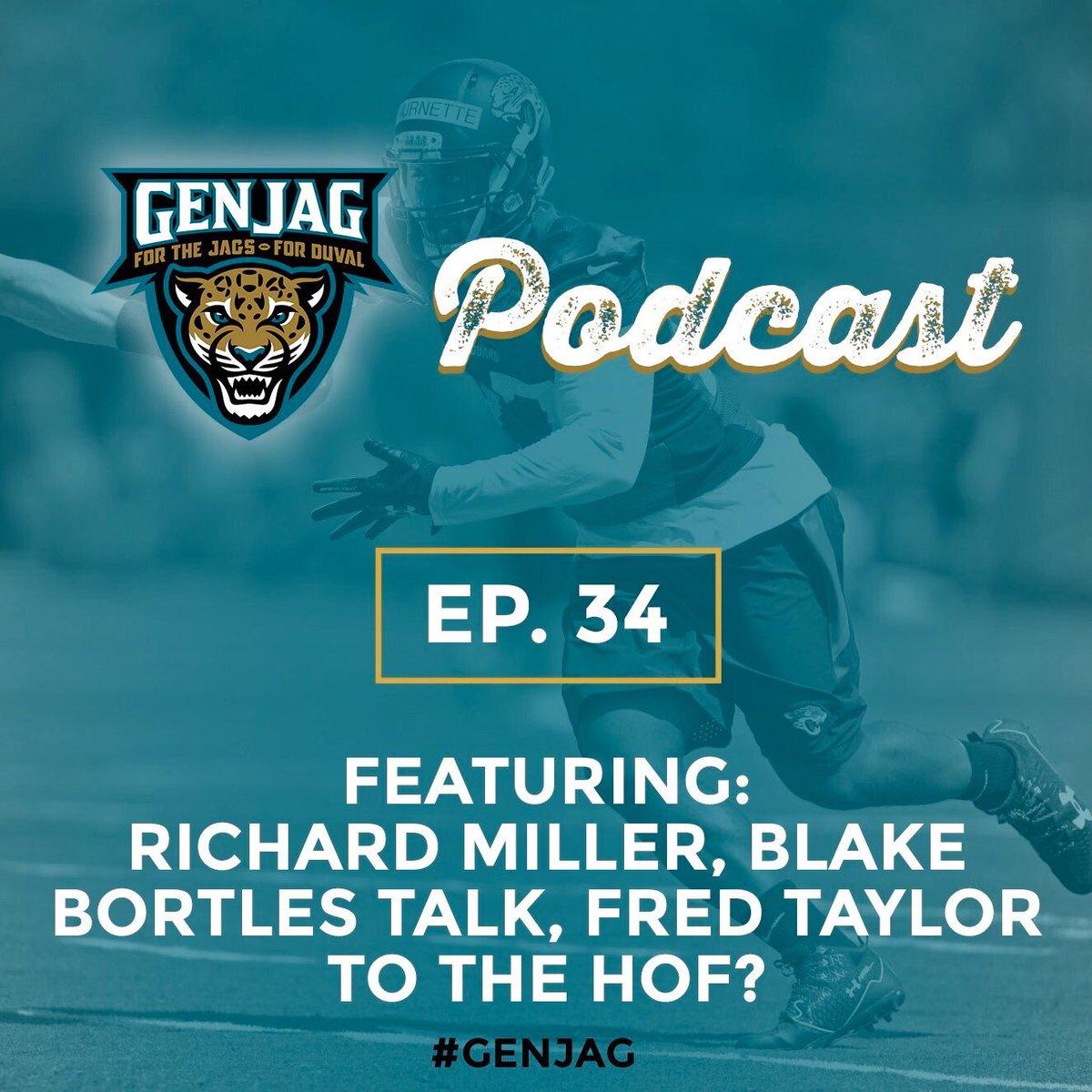 The latest episode of the #GenJag podcast ft. @MillerOnSports  http://www. genjag.com/jacksonville-j aguars-news/genjag-podcast-ep-34-ft-richard-miller &nbsp; …  #Jaguars <br>http://pic.twitter.com/QCocnigxuh