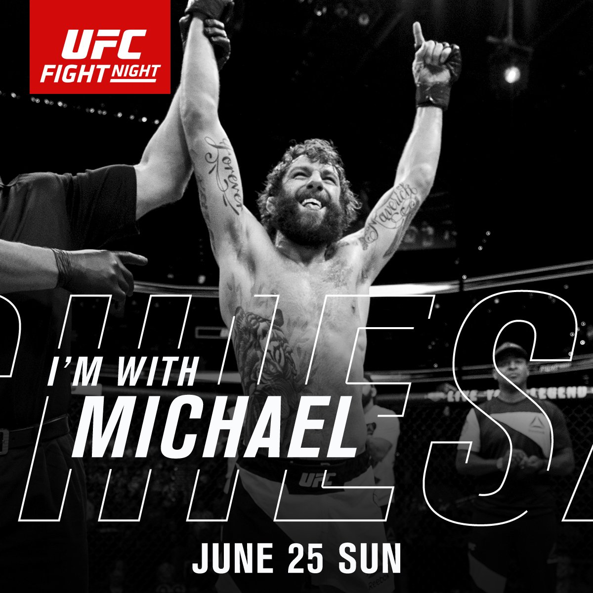 RT if you're w/ The Maverick @MikeMav22 | TONIGHT | #UFCOKC | LIVE &am...
