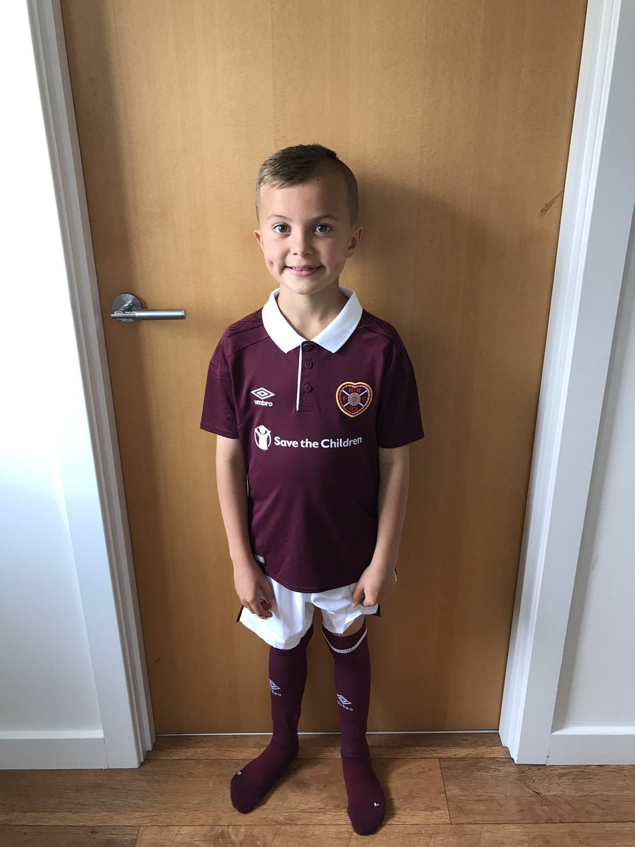 @heartscoaching @JamTarts My boy loving his new Hearts strip. All set for training in August #son #jambo #hearts #HMFC #tynecastle #football<br>http://pic.twitter.com/E5hfdATMgo