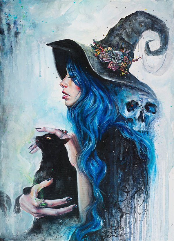 Moody, magical blues add a softness to this incredible and bewitching...