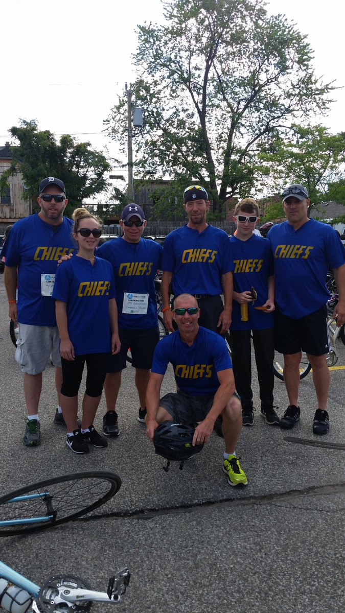 The Chiefs ride for mental health! @Hanson_Brothers @ridedonthide @CMHAOntario #Ridedonthide #Windsor  #EndTheStigma #PuttinOnTheFoil<br>http://pic.twitter.com/9Sthb5hgnh