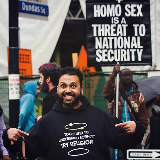 Trolling the faithful at Pride Toronto:  #Pride2017 #PrideTO #PrideMon...