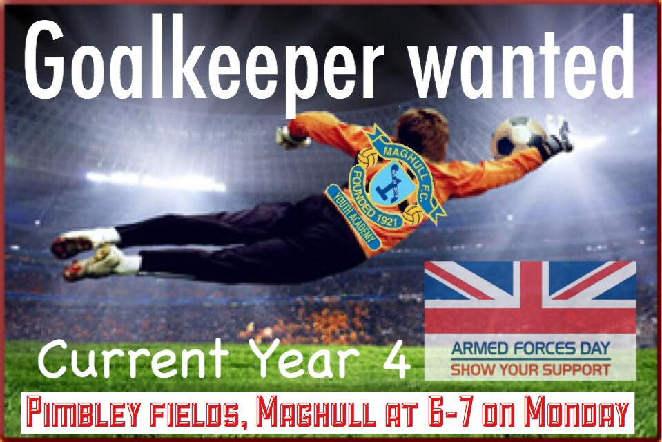We&#39;re looking for u10&#39;s goalkeepers.  Must have own gloves #safehands  #free #training #sessions Monday 6-7 Pimbley Fields Maghull L31 5LX <br>http://pic.twitter.com/1xWBsAtgTE