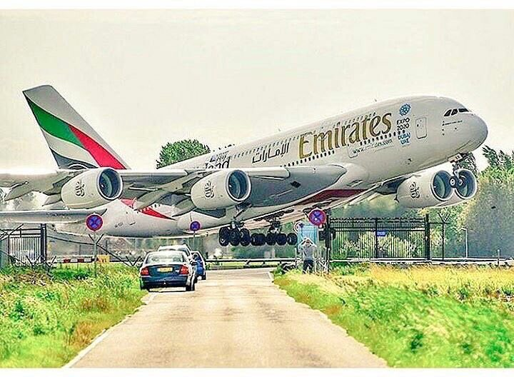 #A380 Taking off from #Schiphol #Amsterdam <br>http://pic.twitter.com/MR0r3FMqvY