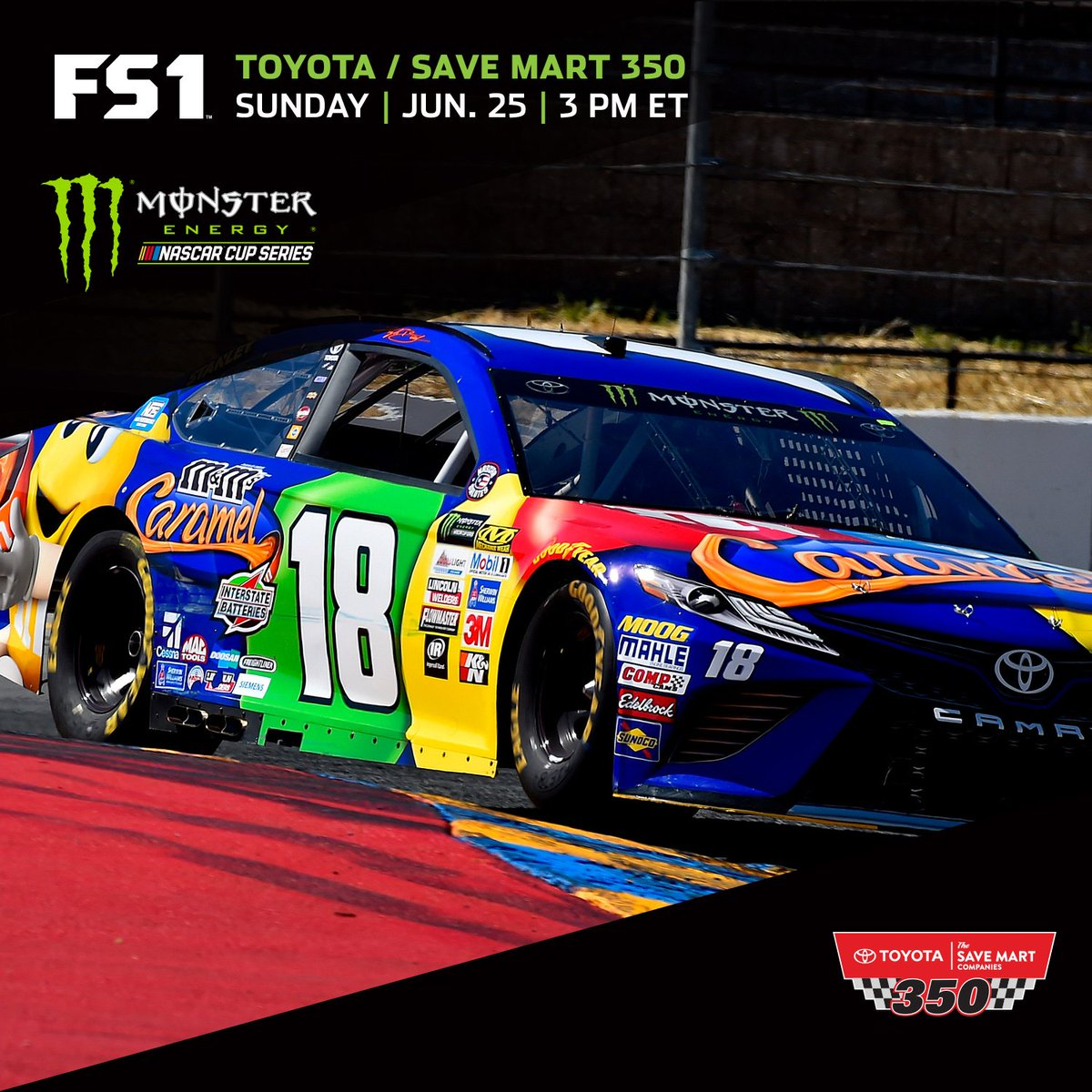 Race Day with @mmschocolate Caramel. Tune in 3PM ET. #TSM350 https://t...
