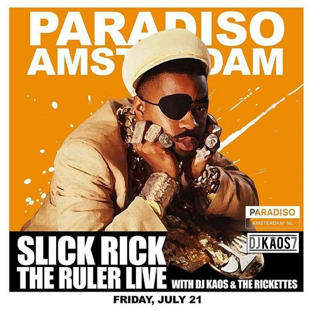 #AMSTERDAM!!! I&#39;m coming for ya.  Slick Rick in Paradiso featuring DJ Kaos. Friday, July 21st.  Tickets on sale now! <br>http://pic.twitter.com/DhjUmueWSm