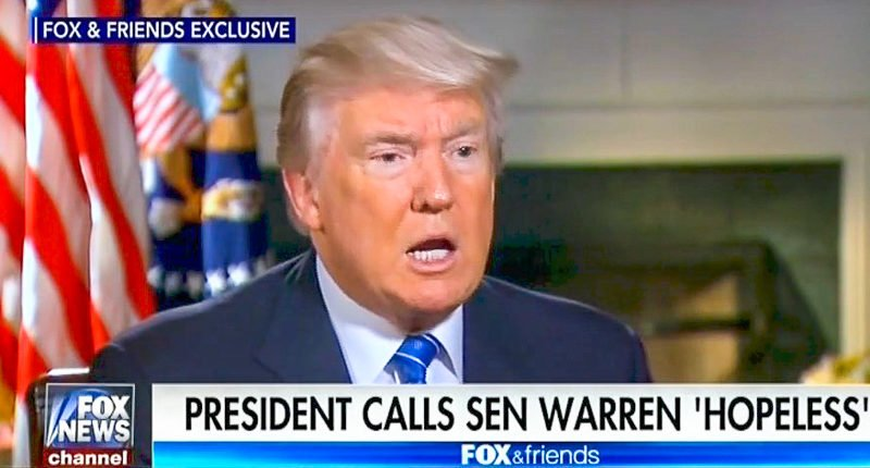 Trump: Calling Elizabeth Warren racist slur 'Pocahontas' is 'an insult to Pocahontas' — but I do it anyway https://t.co/UEuPfJyHtX
