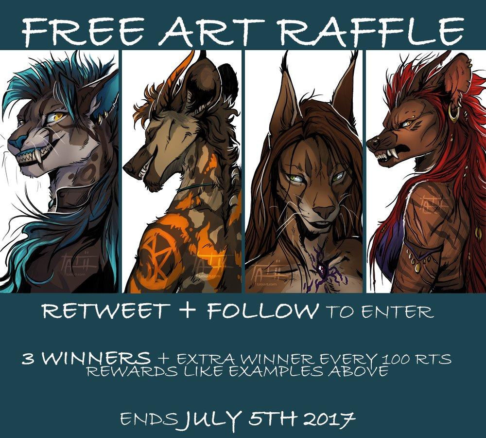 ~ FREE ART RAFFLE ~  FOLLOW + RETWEET to enter! New followers welcome!  .: Read more below :.  #raffle #artraffle #digitalart #furry #anthro<br>http://pic.twitter.com/OLbiN1LNaE