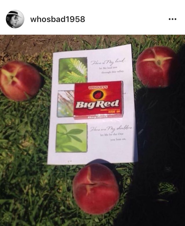 someone left Big Red gum at Forest Lawn today 😩😩😩