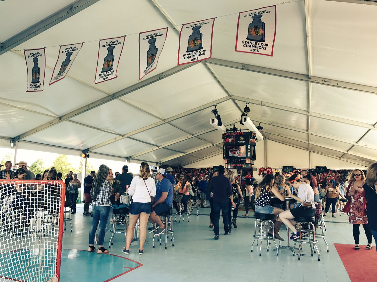 Check in at the #Blackhawks Bar at @LakeShakeFest! You could win passe...