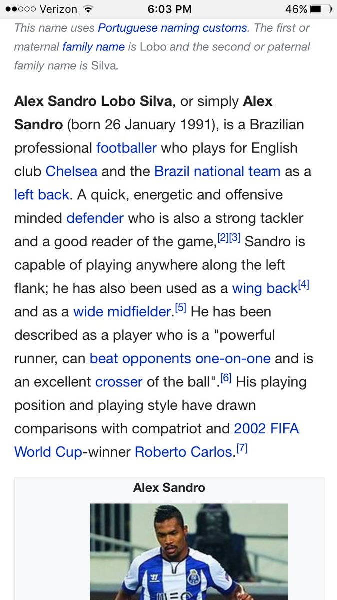 Alex Sandro on Wikipedia  Welcome to Chelsea? #AlexSandro #Juventus #chelseafc #chelsea<br>http://pic.twitter.com/fYMMhxVDLL