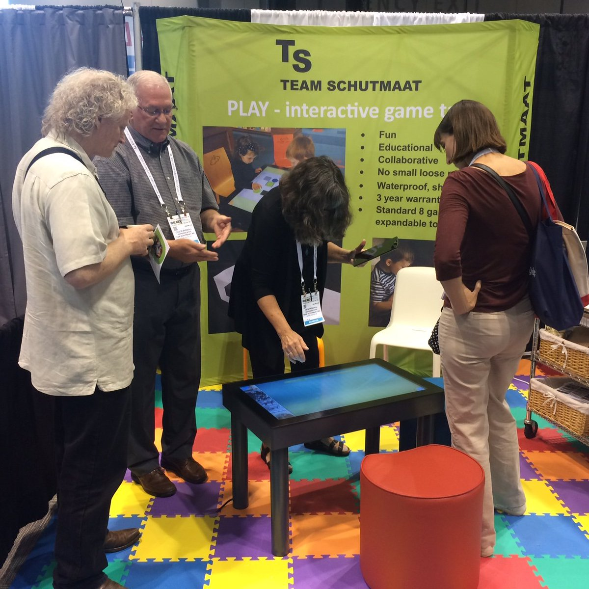 Demo the PLAY #interactive table at @teamschutmaat booth 5035 at #ALA2017 #library #librarian #chicago #edtech<br>http://pic.twitter.com/HFAtQClOlQ