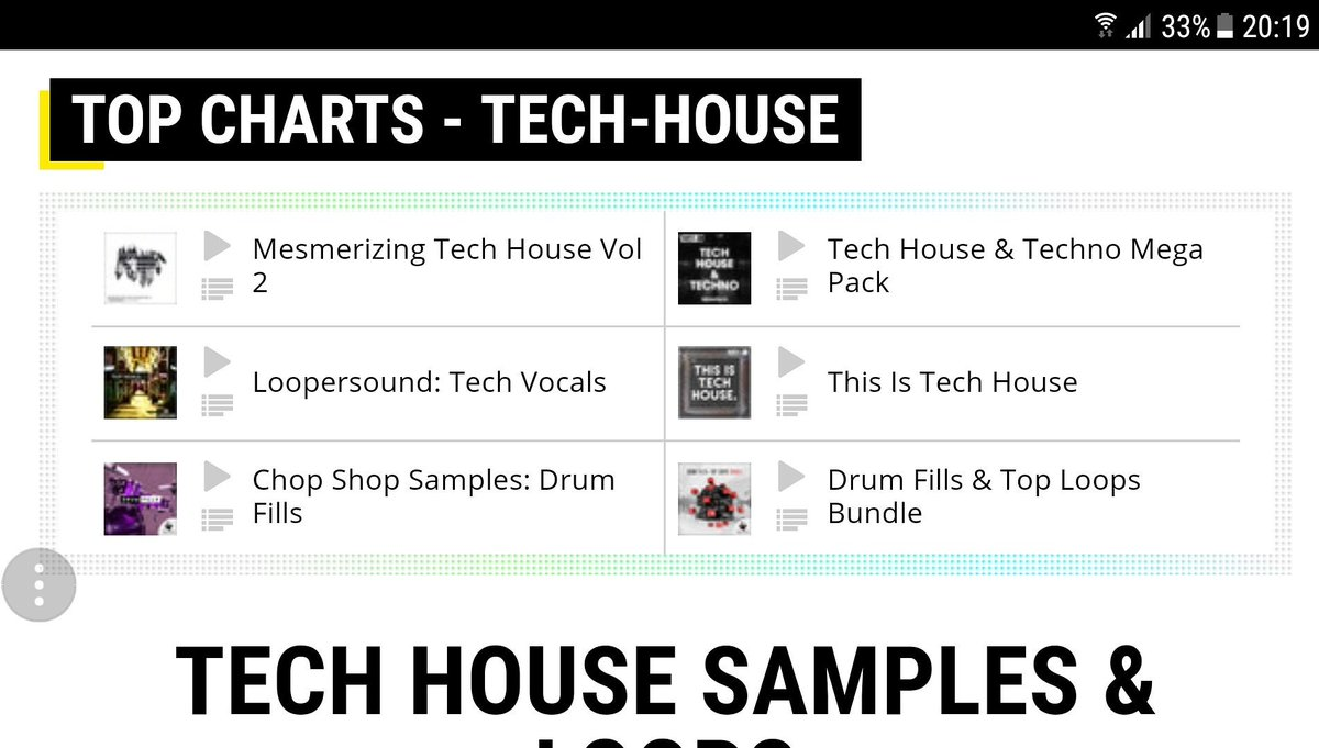 2 packs on Tech House Chart @producerloops  https://www. producerloops.com/Chop-Shop-Samp les/ &nbsp; …  #techhouse #housemusic #deephouse #techno #djs #club #drums #groove<br>http://pic.twitter.com/ioy7pNMviC