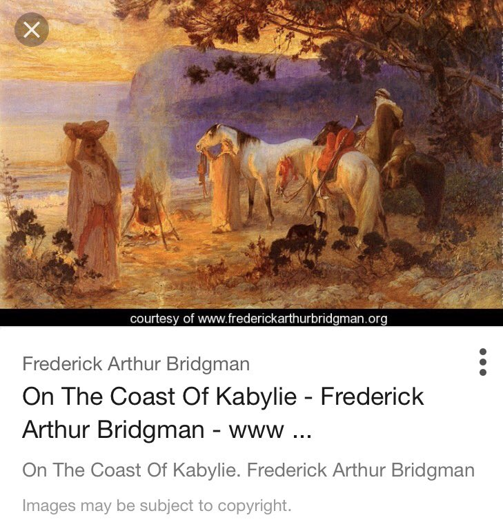 Found this beautiful piece of art named On The Coast Of #Kabylie painted by #Bridgman in the 19th century. #WesternSahara<br>http://pic.twitter.com/wD5EuFjsNn
